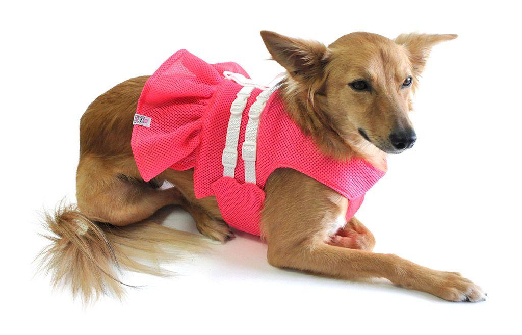 Vestido Peitoral Para Cachorros Cães Rosa Tamanho 1