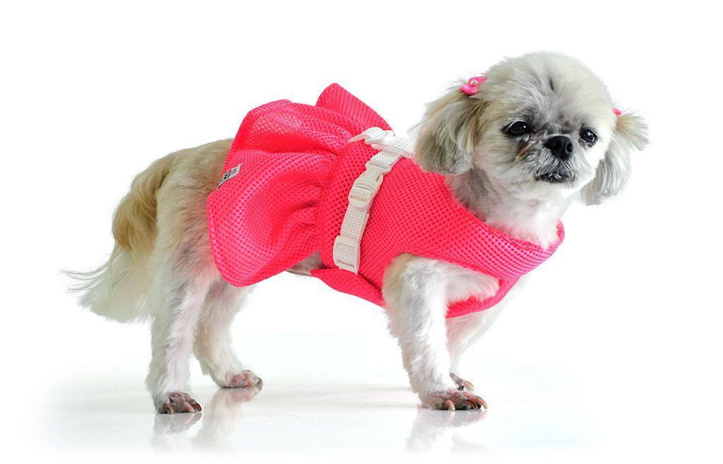 Vestido Peitoral Para Cachorros Cães Rosa Tamanho 3