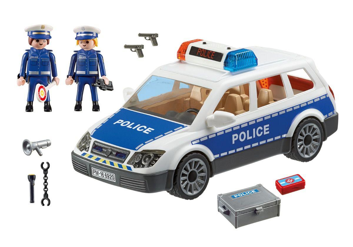 Viatura Policial Com Guardas Da Polícia Playmobil 6920
