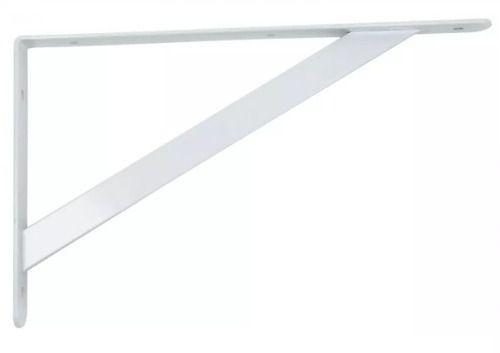 Mão Francesa Suporte para Prateleira Pesado 13 X 20cm Com 10un Branco