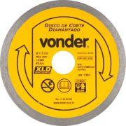 Disco Corte Diamantado Porcelanato 110mm Contínuo Vonder