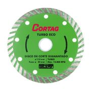 Disco Corte Diamantado Turbo 110mm Eco Cortag