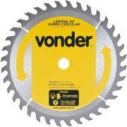 Disco de serra para madeira 185 x 20 mm 40 dentes Vonder