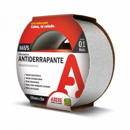 Fita Adesiva Antiderrapante Transparente 50mm x 5m Adere