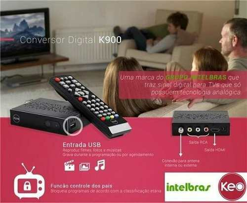 Conversor Gravador Digital Full HD Keo K900 Hdmi Intelbras