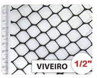 Tela Para Viveiro 1/2 Plástica 1,00 X 50 M Leve Nortene