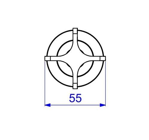 """Acabamento Para Registro de Gaveta e Pressão 1.1/4"""" e 1.1/2""""  Aspen 4900 C20 Gd Deca"""