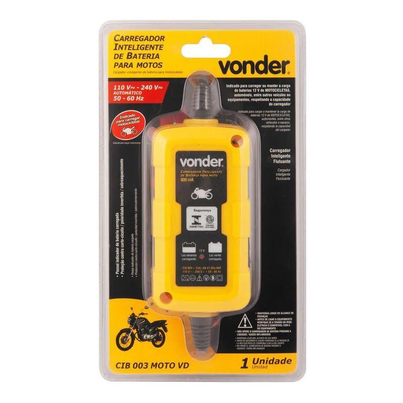 Carregador Bateria Moto CIB003 Bivolt Vonder