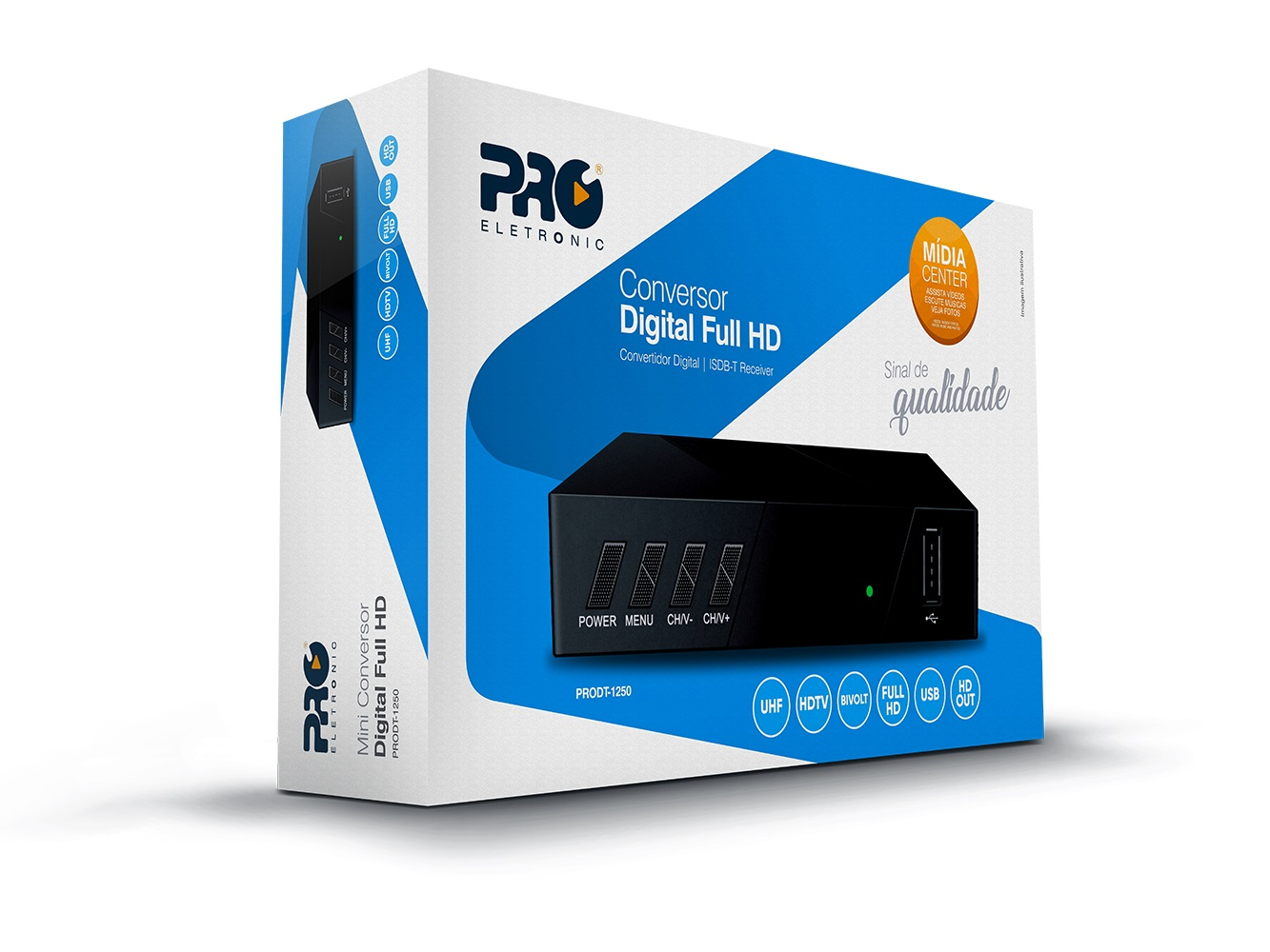 Conversor Digital Full Hd PRODT-1250 Pro Eletronic