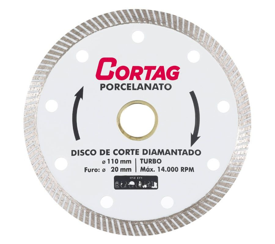 Disco Corte Diamantado Porcelanato Turbo 110mm 4.3/8 Cortag