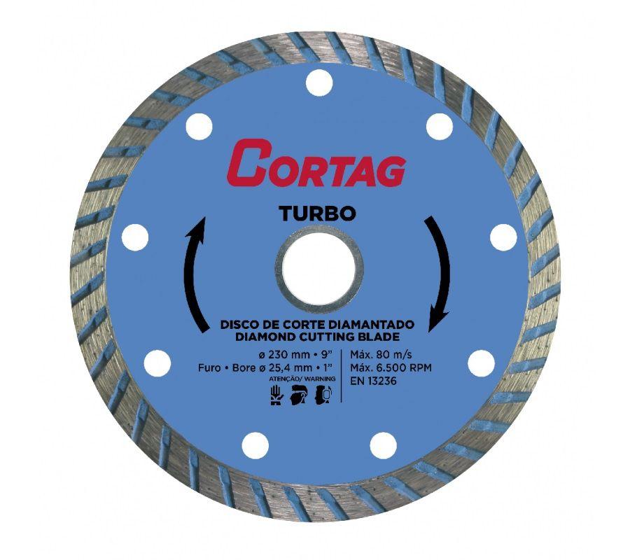 Disco Corte Diamantado Turbo 230mm Cortag