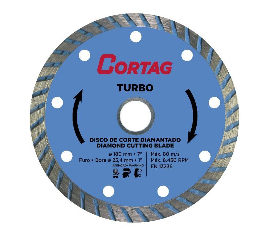 Disco Diam 180mm Turbo Cortag