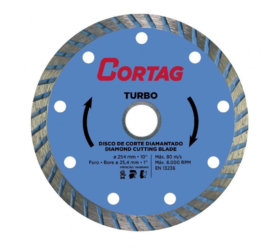 Disco Diamantado Turbo 254mm Cortag