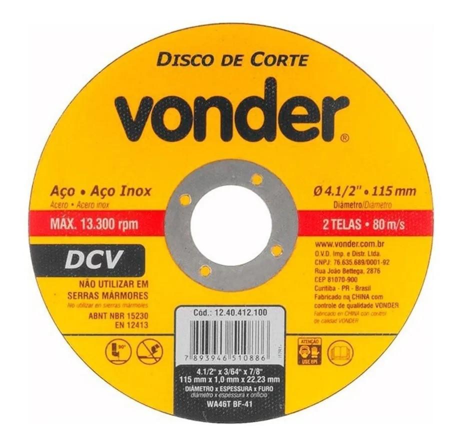 Esmerilhadeira Lixadeira 650w 4.1/2 EAV650 Vonder