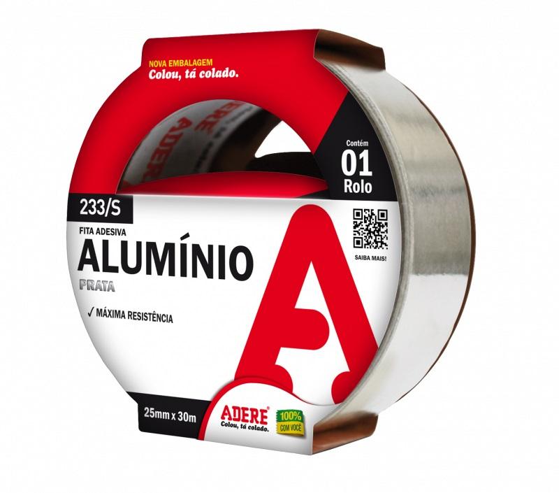 Fita Adesiva Aluminio 25x30m 233S Adere