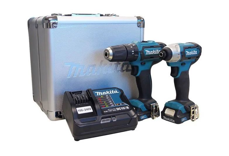 Furadeira/Paraf Bateria Combo Makita Clx202Sax + Bateria Extra