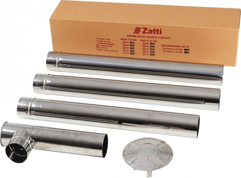 Kit Chamine Inox 115mm Zatti