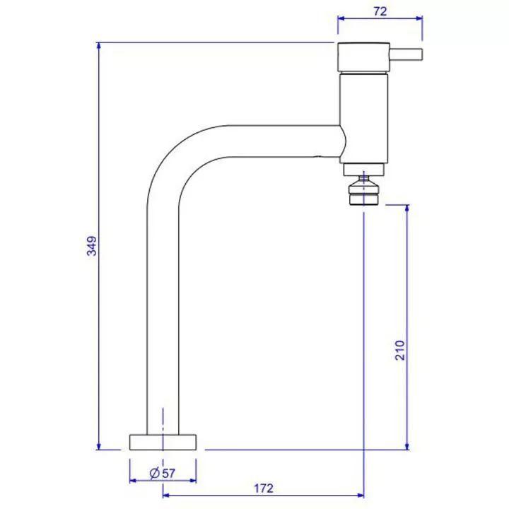 Misturador Monocomando De Mesa Cozinha Link 2256.c.lnk Deca