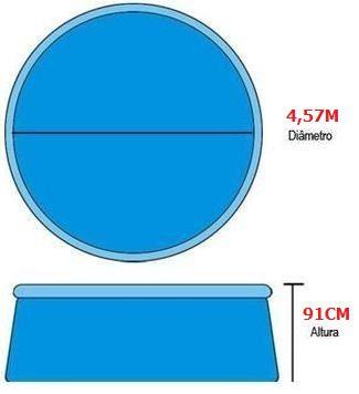 Piscina Inflável 11.000L + Acessórios Bellazer