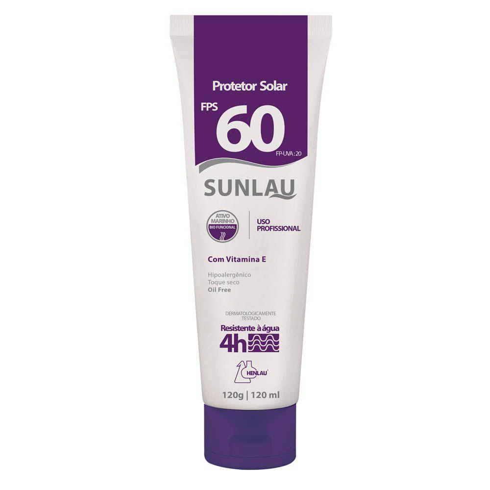 Protetor Solar Sunlau fps60 120g Henlau