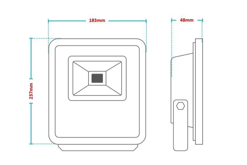Refletor Led Holofote 30w Resistente Água Branco Frio Avant
