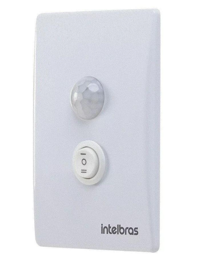 Sensor Presença Embutir C/Interruptor ESP180E+ Intelbras