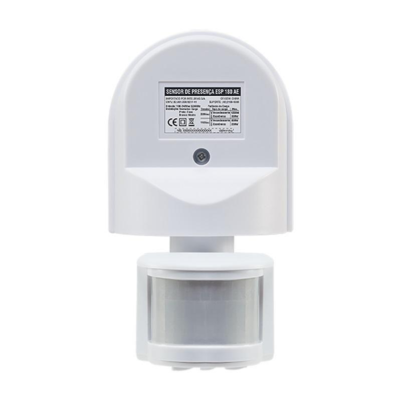 Sensor Presença Parede ESP180AE Articulavel Intelbras