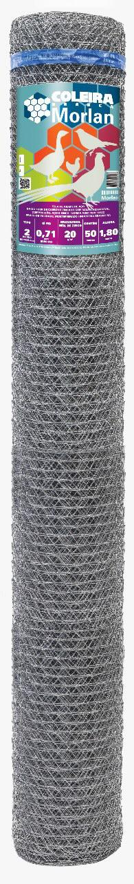 Tela Galinheiro 2 22x1,80x50m Coleira Branca Morlan