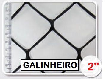 Tela Galinheiro 2 Plástica 1,00 X 50 M Pesada Nortene
