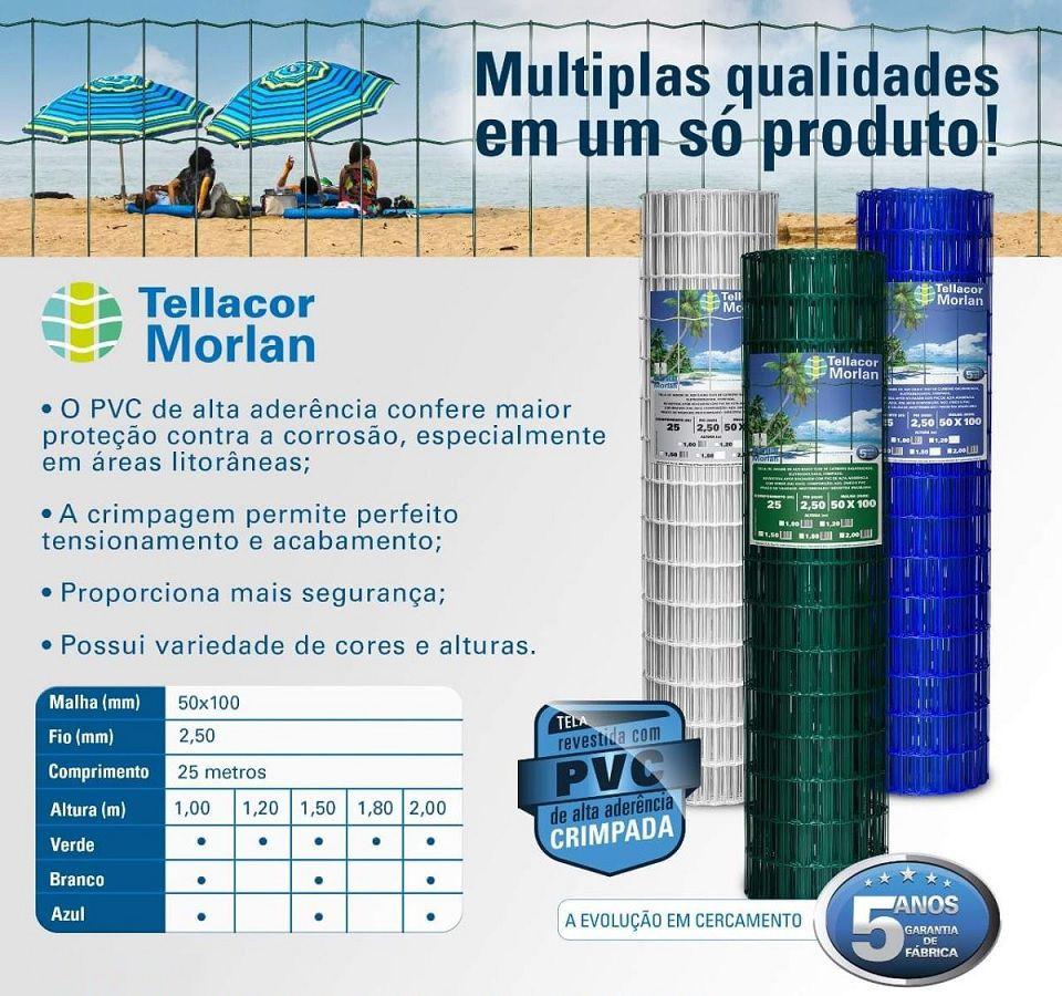 Tela Multiuso Revestida Pvc Tellacor 1,2x25m Morlan