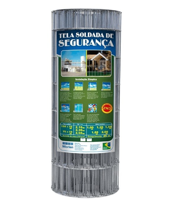 Tela Soldada Alambrado Segurança 15x5 1,8x25m 2,5mm Morlan