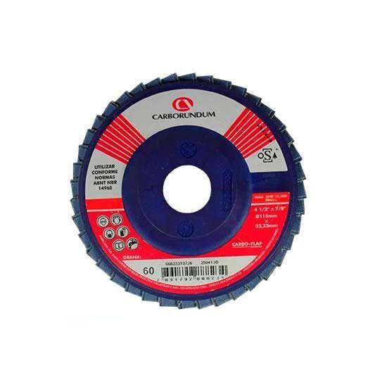 CARBO-FLAP DISCO GR 060 115 X 22 - CARBORUNDUM - 66623313726