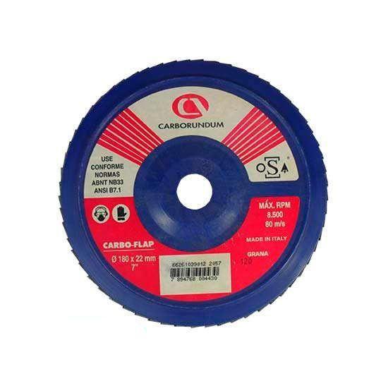 CARBO-FLAP DISCO GR 120 180 X 22 - CARBORUNDUM - 66261039012