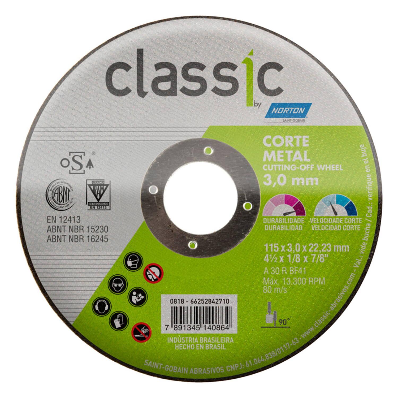 DISCO DE CORTE 4-1/2 POL. CLASSIC AR302 NORTON