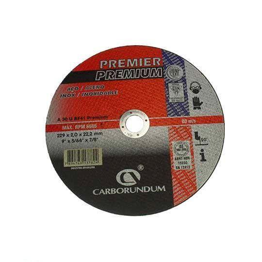 DISCO CORTE PREMIER 228.6X2.0X22.22 CARBORUNDUM 66252834656