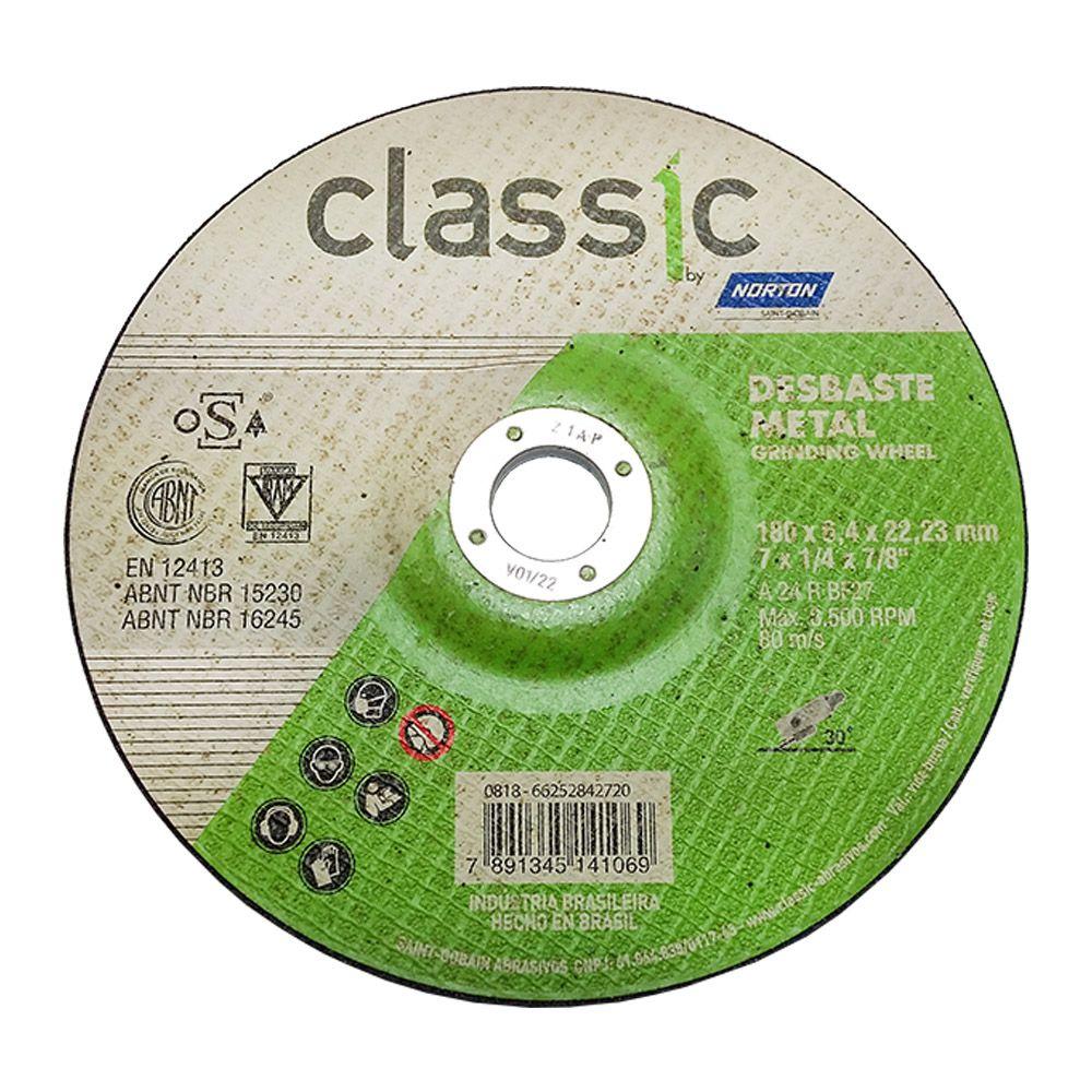 DISCO DESBASTE CLASSIC 180 X 6.4 X 22.22 CARBORUNDUM