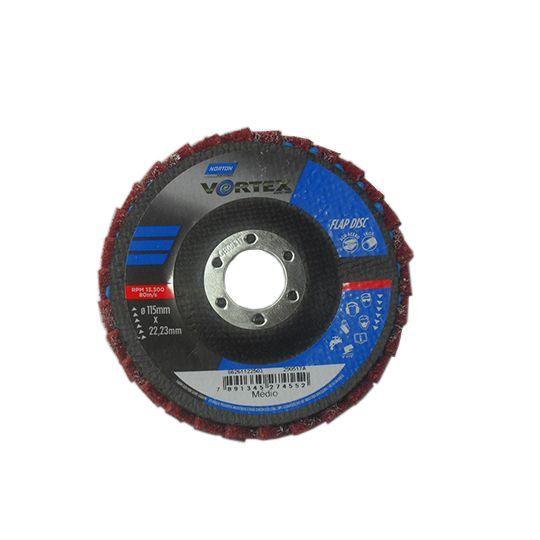 DISCO FLAP VORTEX 115 X 22 MÉDIO VERMELHO NORTON 66261122503