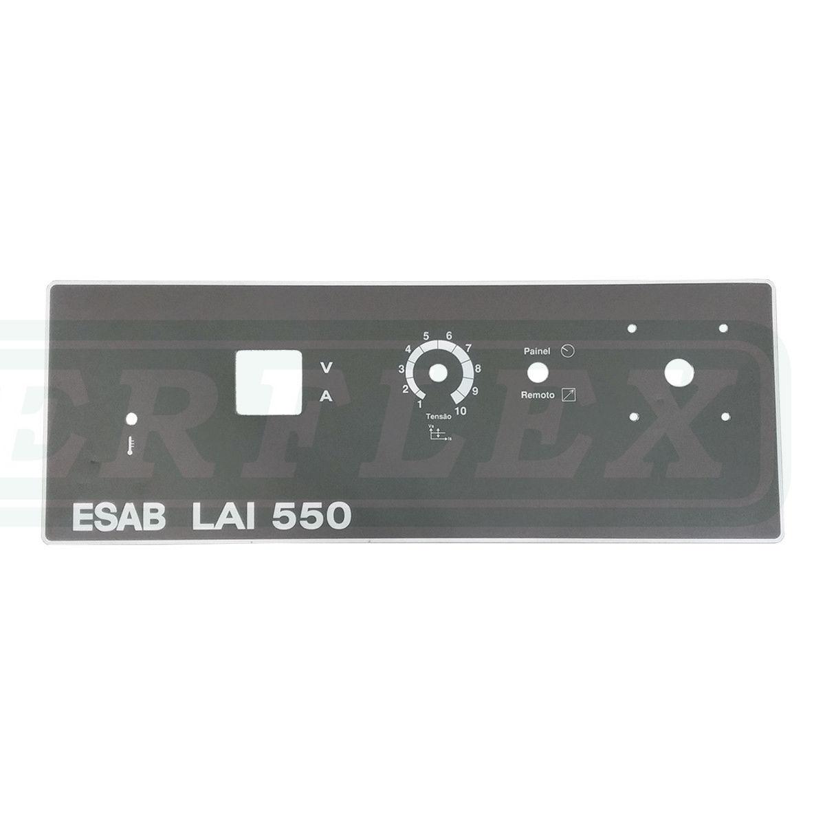ETIQUETA PAINEL FRONTAL SUPERIOR LAI 550 0903912 ESAB