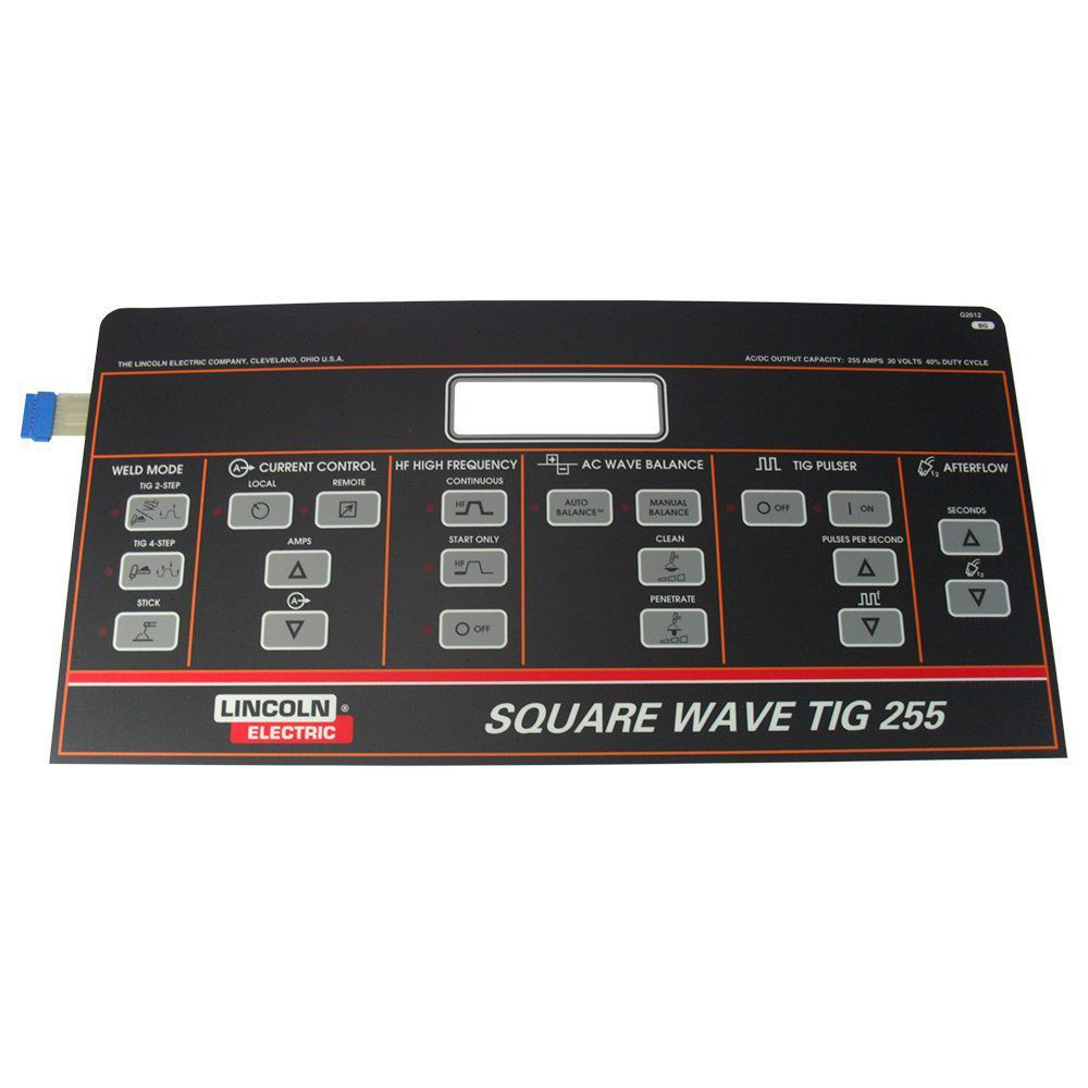 PAINEL DIGITAL SQUARE WAVE TIG 255 9SG2612 LINCOLN ELECTRIC
