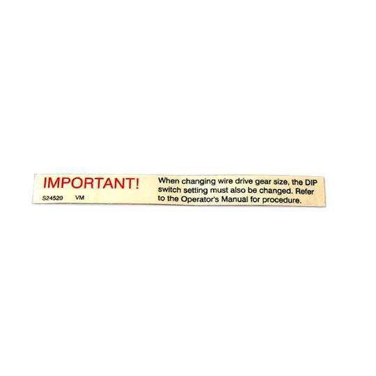 PLACA ADESIVA INFORMAÇÃO DIREÇÃO S24520 LINCOLN ELECTRIC