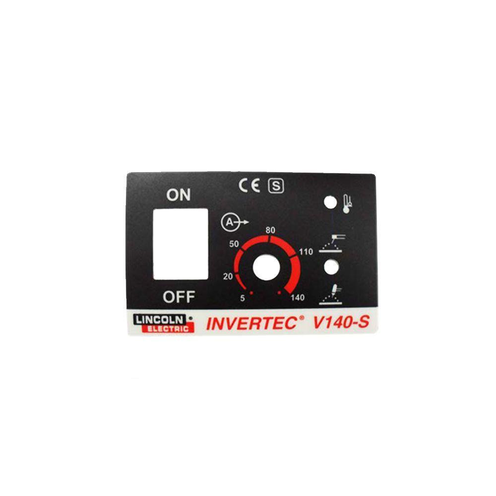 PLAQUETA DE IDENTIFICAÇÃO INVERTEC V140-S W07X0164 LINCOLN ELECTRIC