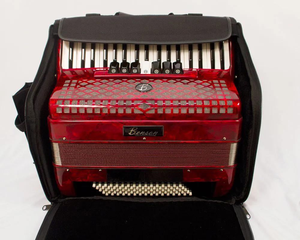 Acordeao 80 baixos Benson BAC80-7PRD-B verm. 9 registros