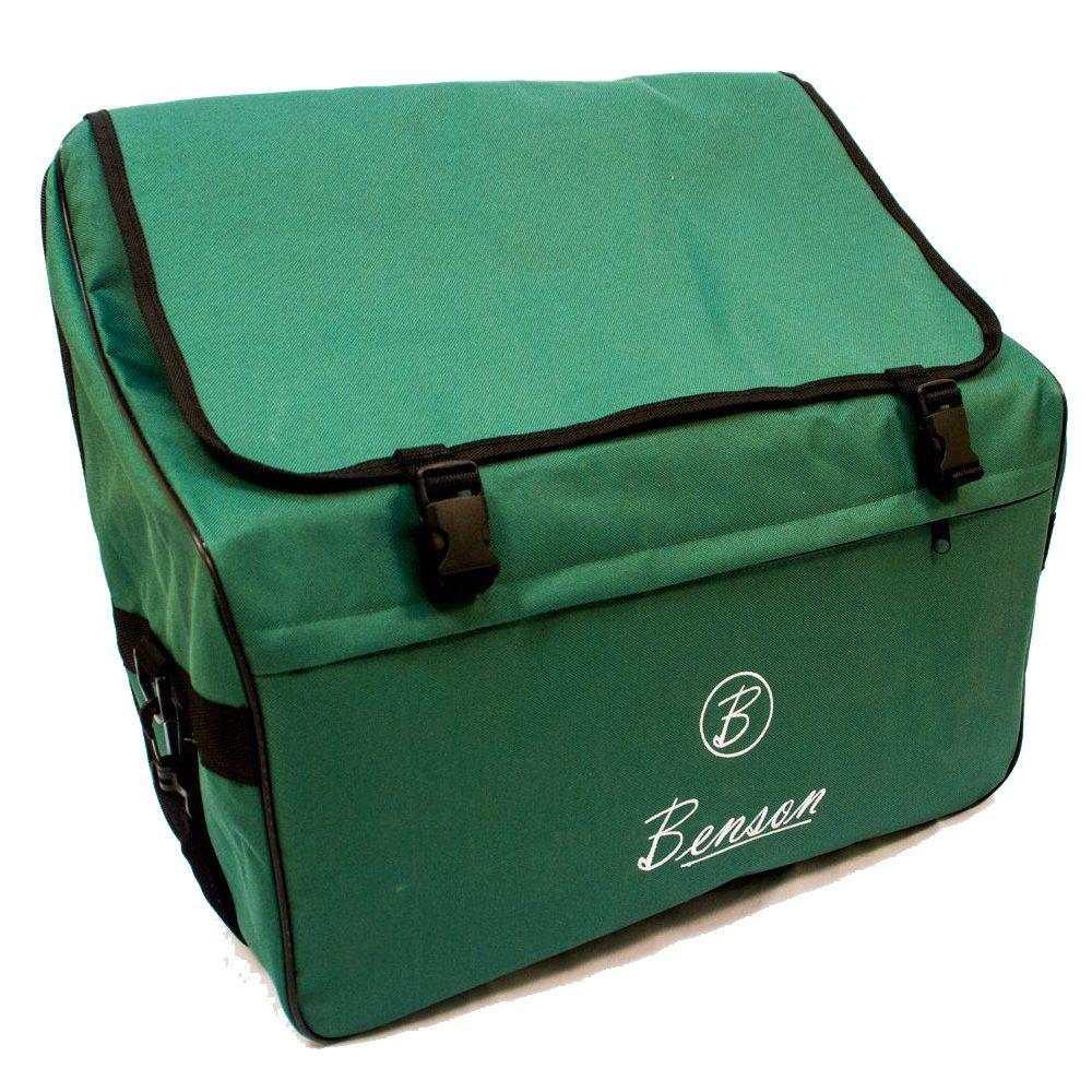 Acordeon Benson Bac08 Preto Perolado 22 Teclas Com Bag