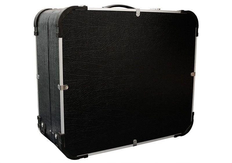 Acordeon Benson Bac48 Preto Perolado 48 Baixos 26 Teclas Com Case