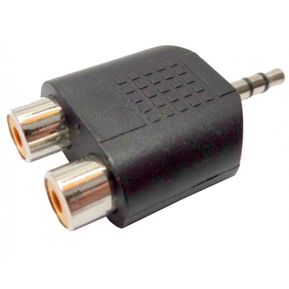 Adaptador Conector KSR Pro 2 RCA/ P2 Stereo