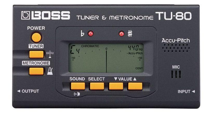 Afinador Cromático e Metrônomo Boss TU80