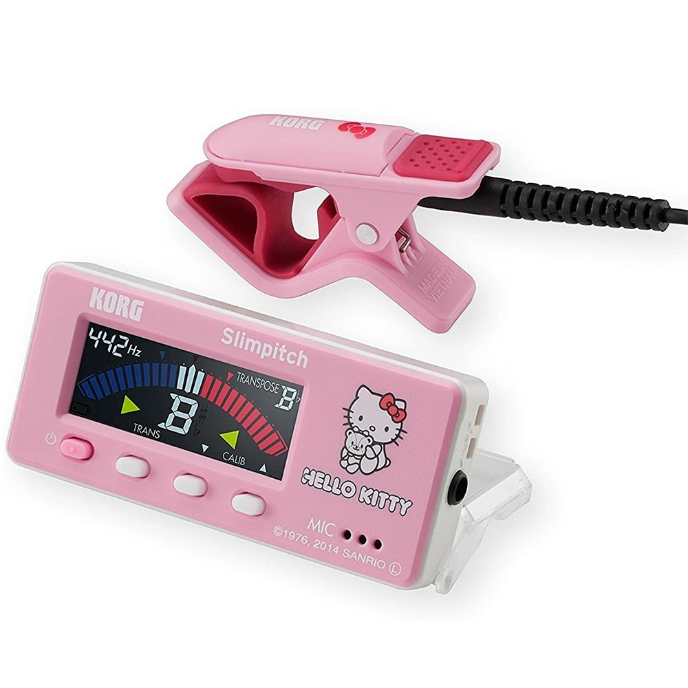 Afinador Cromático Korg Slimpitch SLM-1CM-KTPK Pink com Clip