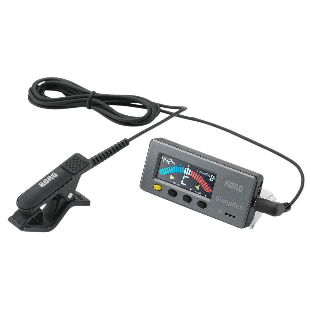 Afinador Korg Slimpitch SLM-1CM Cromatico Preto com Clip