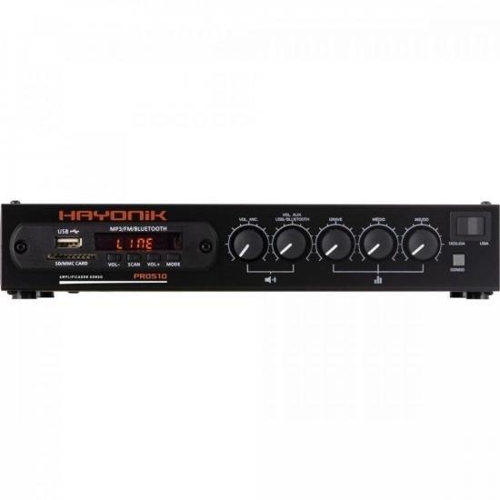 Amplificador 50W RMS com Gongo Eletrônico PRO510 HAYONIK