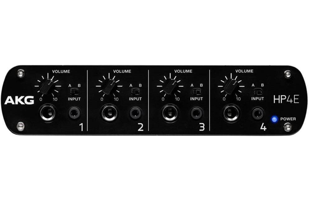 Amplificador AKG HP4E 4 Canais para Fone de Ouvido
